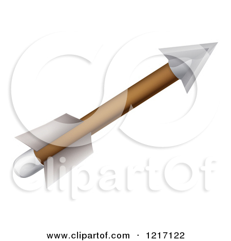 Arrow fletch clipart black clip art black and white download Clipart of an Archery Arrow with Feather Fletchings - Royalty Free ... clip art black and white download