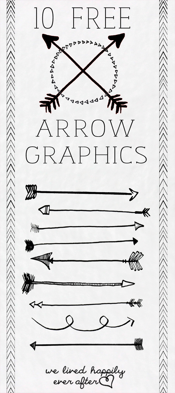 Arrow graphic free png black and white stock We Lived Happily Ever After: 10 Free Arrow PNG Graphics png black and white stock