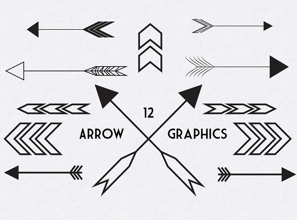 Arrow graphics clip art freeuse library Black Arrow Graphics ~ Graphics on Creative Market clip art freeuse library