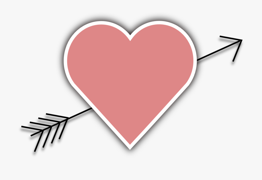 Arrow hear clipart black and white Valentines Clipart Arrow - Heart Arrows Clipart Transparent #214638 ... black and white