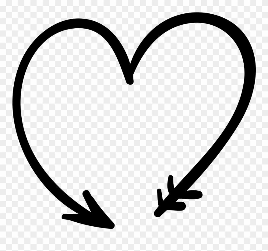 Arrow hear clipart svg library library Svg Download Black And White Transparent - Arrow With Hearts Svg ... svg library library