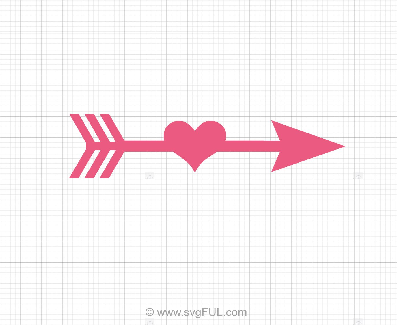 Arrow heart silhouette clipart png freeuse library Arrow Heart Svg Clip Art | Valentines Day Svg, Clip Art, Printables ... png freeuse library