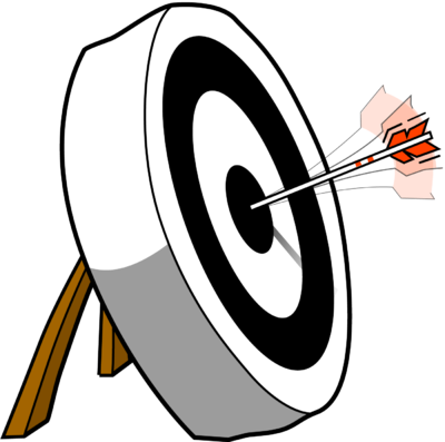 Arrow hitting target clipart jpg library Image download: On Target | Christart.com jpg library