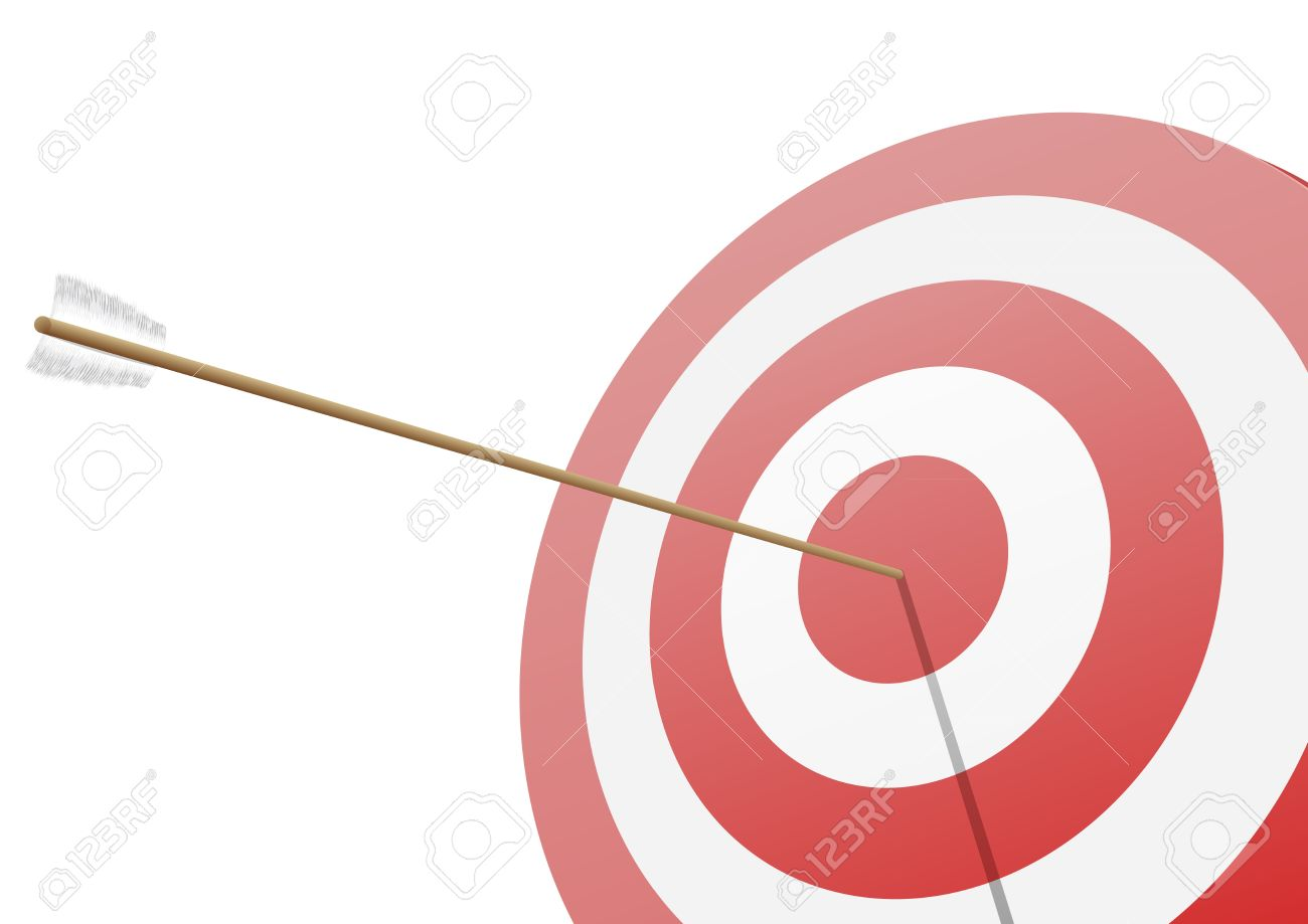 Arrow hitting target clipart clipart transparent Illustration Of A Red Target With An Arrow Hitting The Center ... clipart transparent