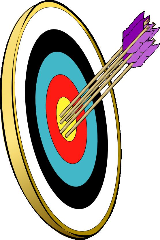Arrow hitting target clipart. Clipartfest free archery clip
