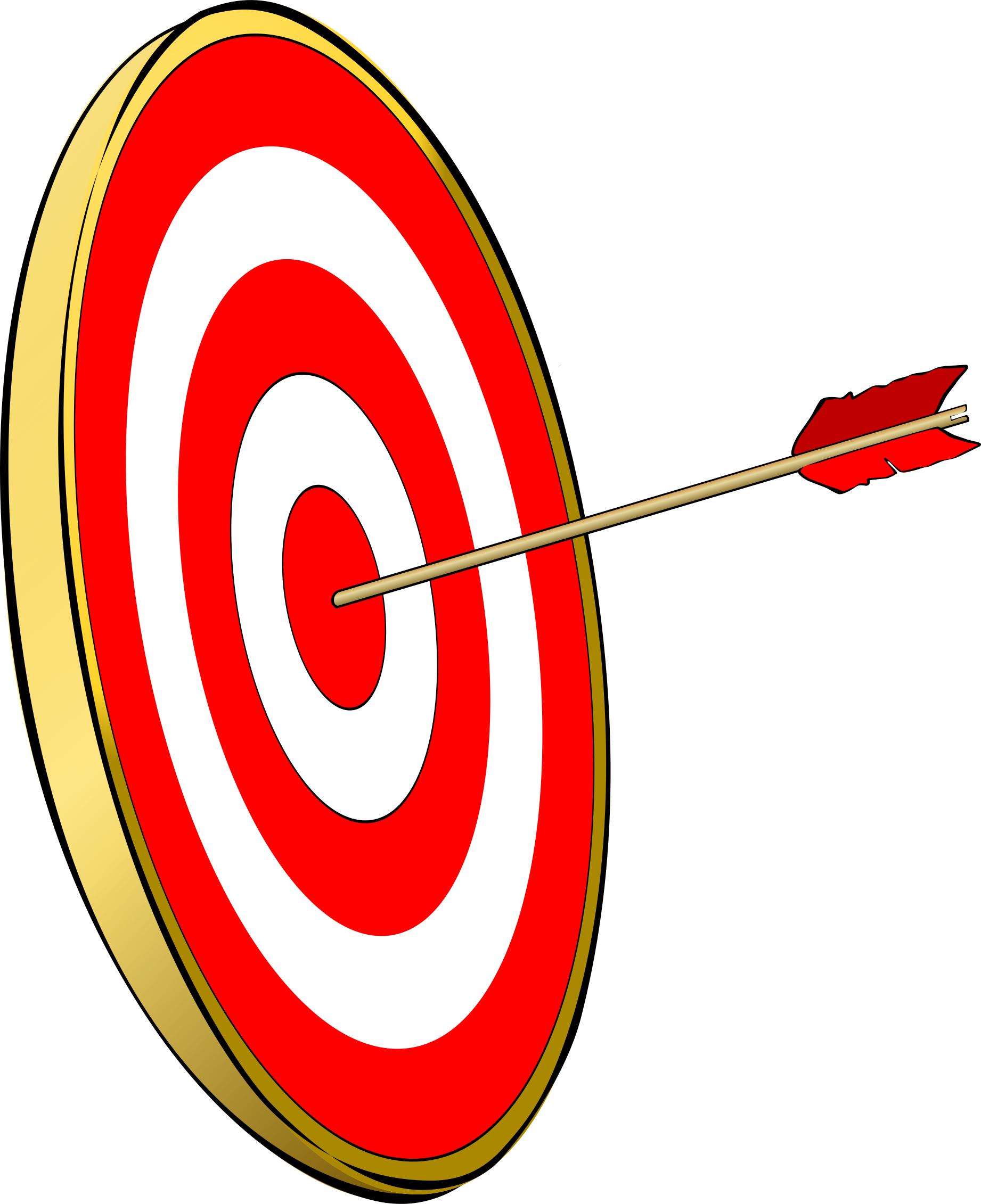 Arrow hitting target clipart clip black and white Clipart - Bullseye clip black and white