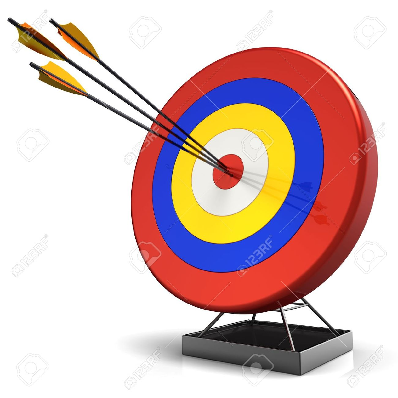 Arrow hitting target clipart png free Hit A Target. 3D Render (Hi-Res) Stock Photo, Picture And Royalty ... png free