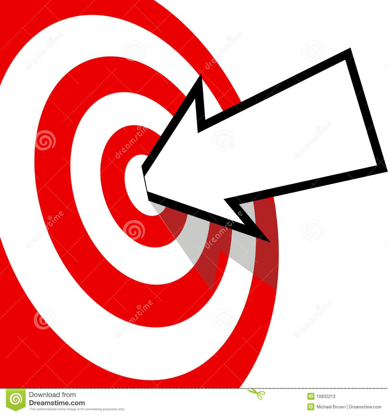 Arrow hitting target clipart. Bullseye kid an with