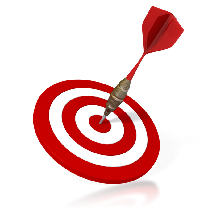Arrow hitting target clipart clip art stock Aiming Arrows at an Audience Bull's Eye - PRN a STRATACACHE company clip art stock