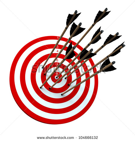 Arrow hitting target clipart clip royalty free Several Arrow Hitting Target Stock Illustration 104666132 ... clip royalty free