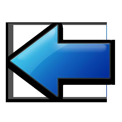 Arrow image. Blue jelly icons arrows