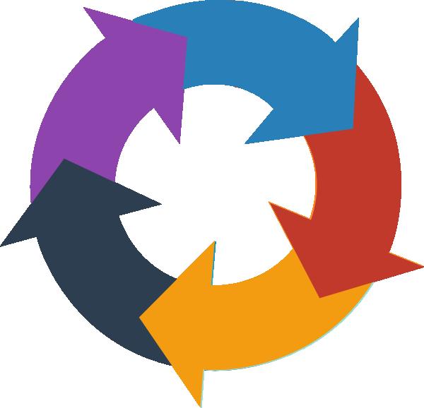Rainbow circular arrows at. Arrow images clip art