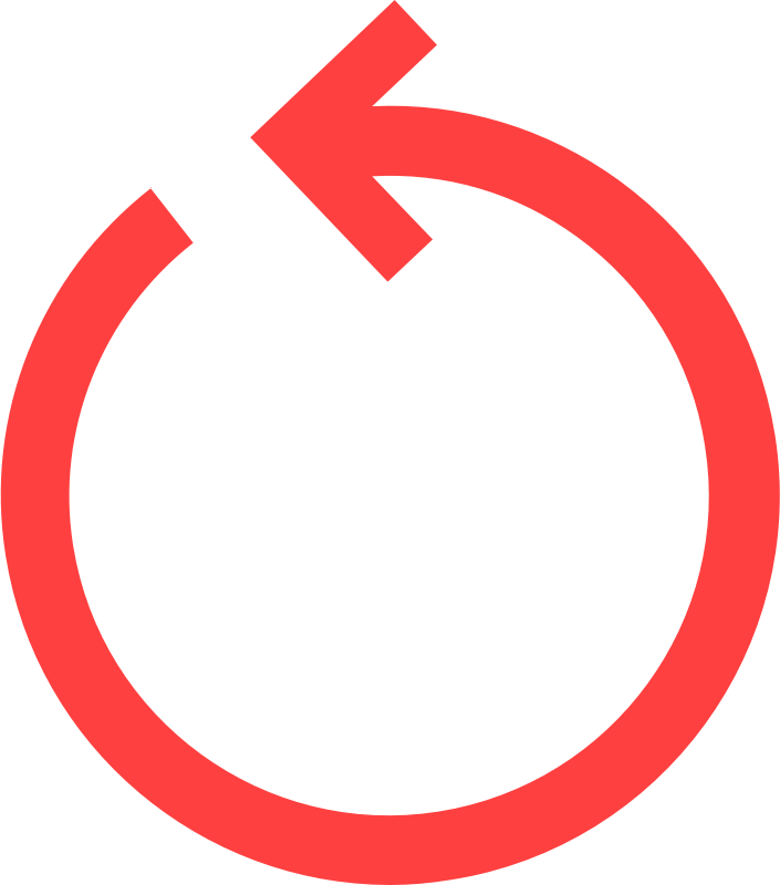 Arrow in a circle clipart png library Clipart - circular arrow (red) png library