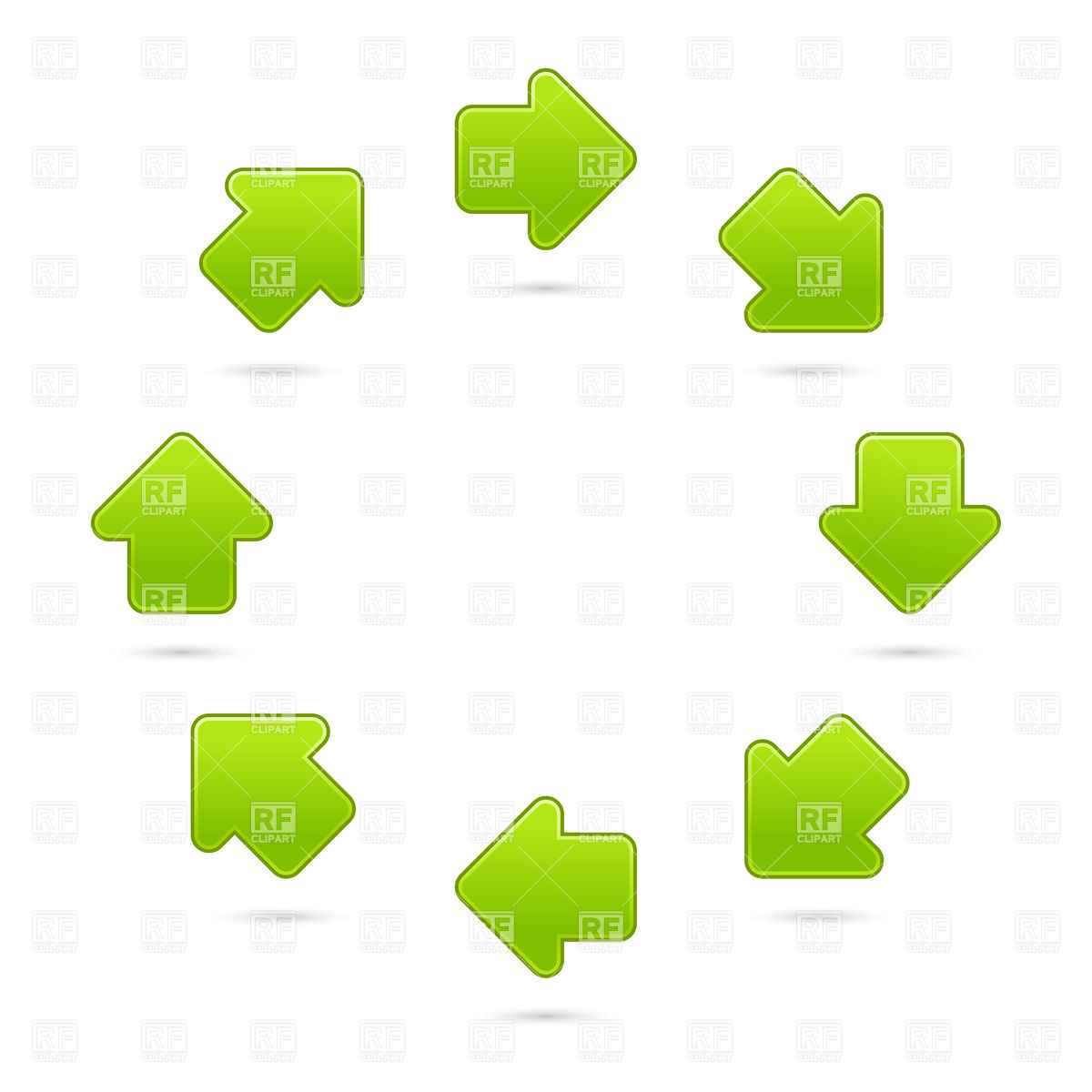 Arrow in circle clipart svg library download Rotating by circle green arrows Vector Image #14814 – RFclipart svg library download