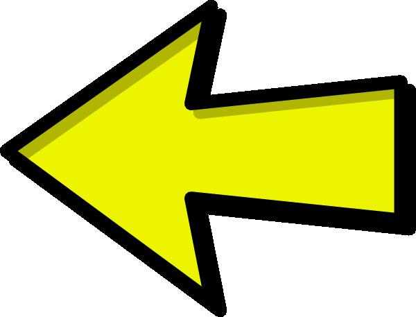 Arrow left clipart clip art black and white stock Yellow Arrow Left Clip Art at Clker.com - vector clip art online ... clip art black and white stock