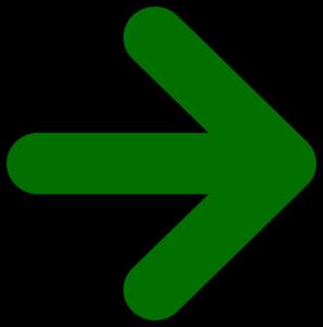 Arrow marks clipart. Green clip art at