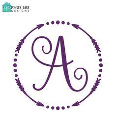 Arrow monogram circle clipart clip Elegant Scroll Monogram for YETI Mugs | Kitchen | Pinterest | Mugs ... clip