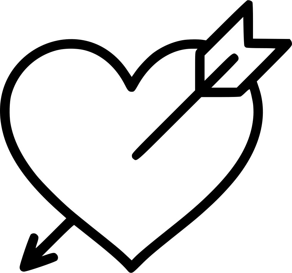 Arrow mustache heart clipart