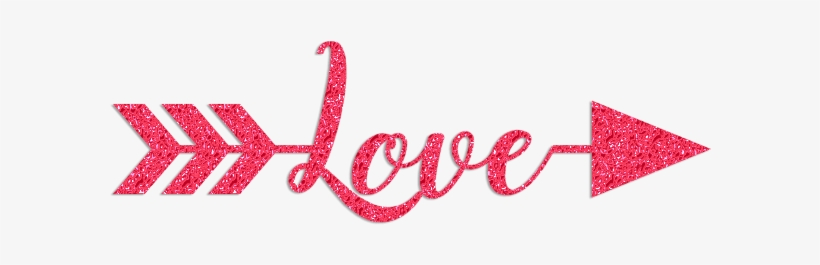 Arrow of love clipart banner free library Love Arrow Glitter Clipart - Calligraphy Transparent PNG - 650x242 ... banner free library