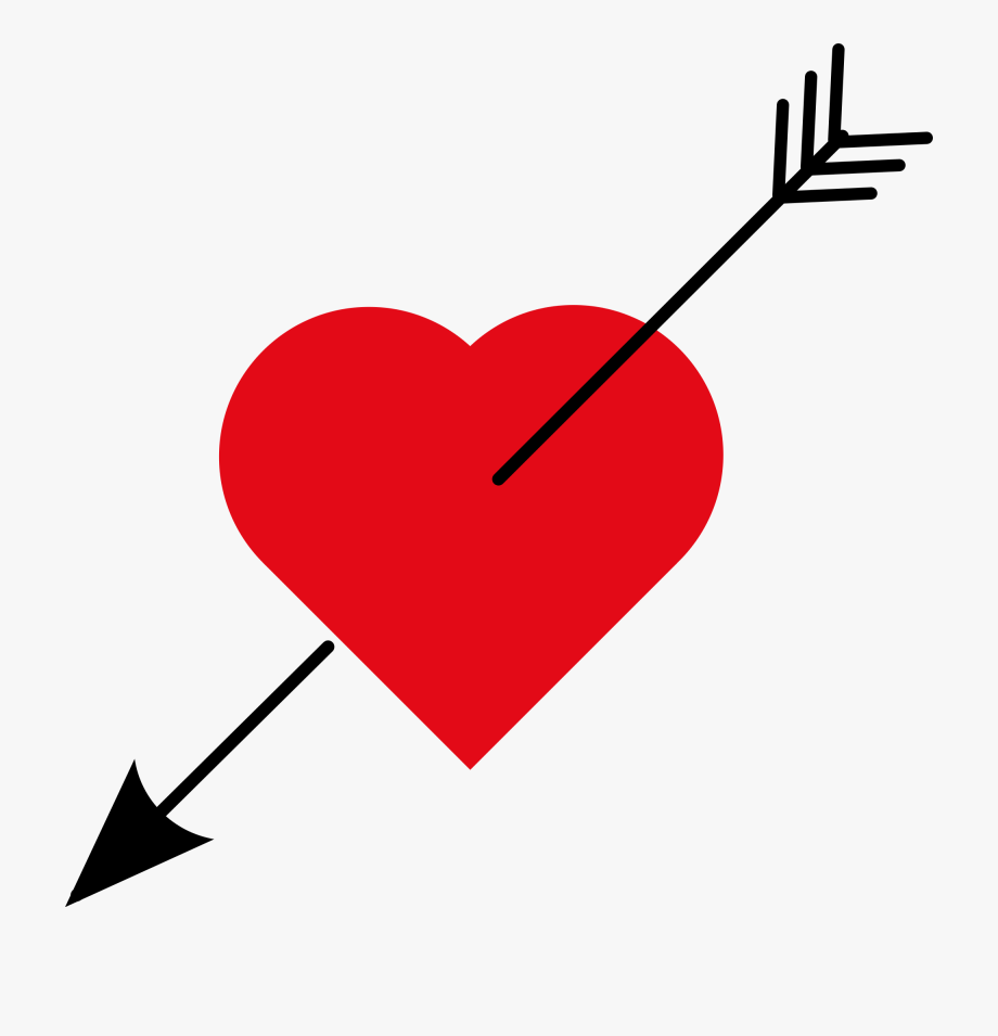 Arrow of love clipart graphic royalty free library February Clipart Cute Symbol - Love Heart With Arrow #586921 - Free ... graphic royalty free library
