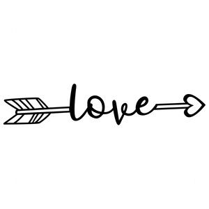 Arrow of love clipart png stock Love arrow | Sophie Gallo Design Silhouette Store & Digital files ... png stock