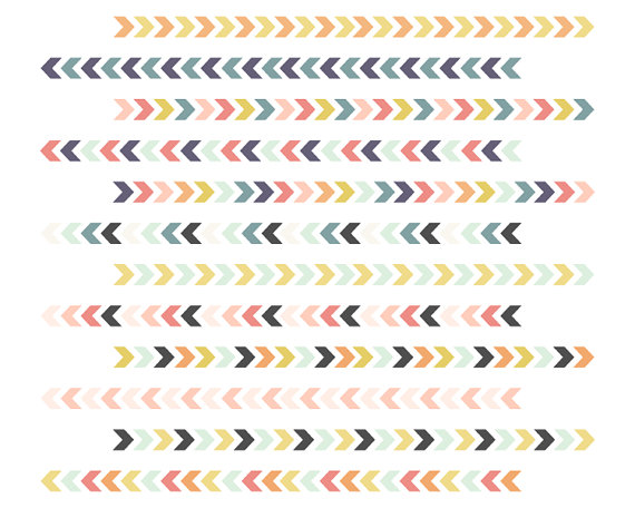 Arrow pattern clipart graphic stock Tribal Borders // Chevron Arrow Borders // Instant Download Digital ... graphic stock