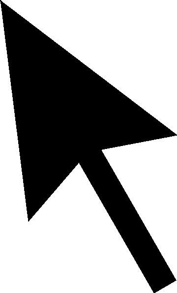 Arrow pointer clipart modern. Clipartfest cursor icon clip