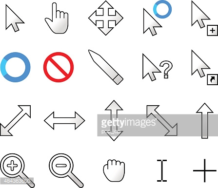 Arrow pointer clipart modern png freeuse library Modern Mouse Cursor Pointers Vector Icons Vector Art | Getty Images png freeuse library
