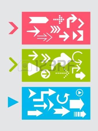 Arrow pointer clipart modern.  glyph stock vector