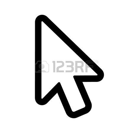 screen stock vector. Arrow pointer clipart modern