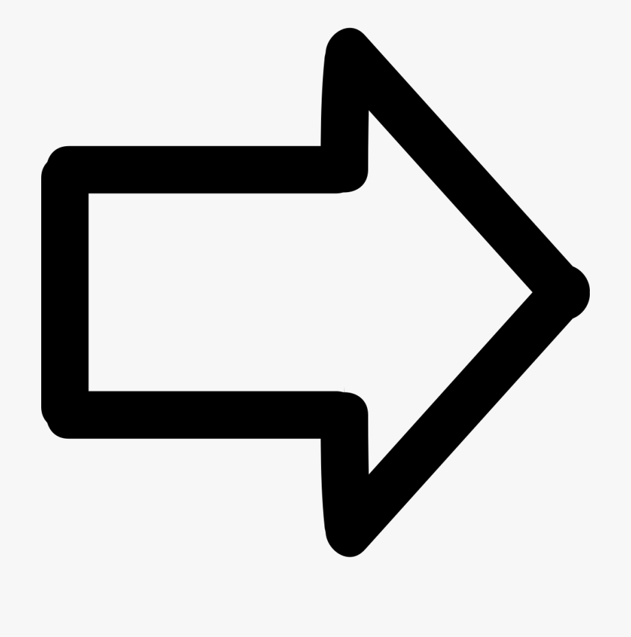 Arrow pointing right clipart png library download Arrow Pointing To Right Hand Drawn Symbol Comments - Arrow Pointing ... png library download