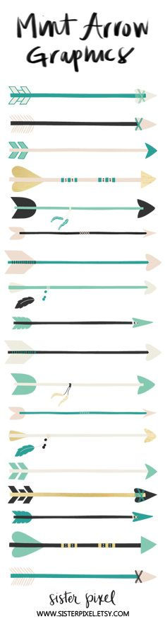 Arrow printable clipart black and white stock Arrows Clip Art Graphics, Gold, Teal & Mint | Clip art, Graphics ... black and white stock