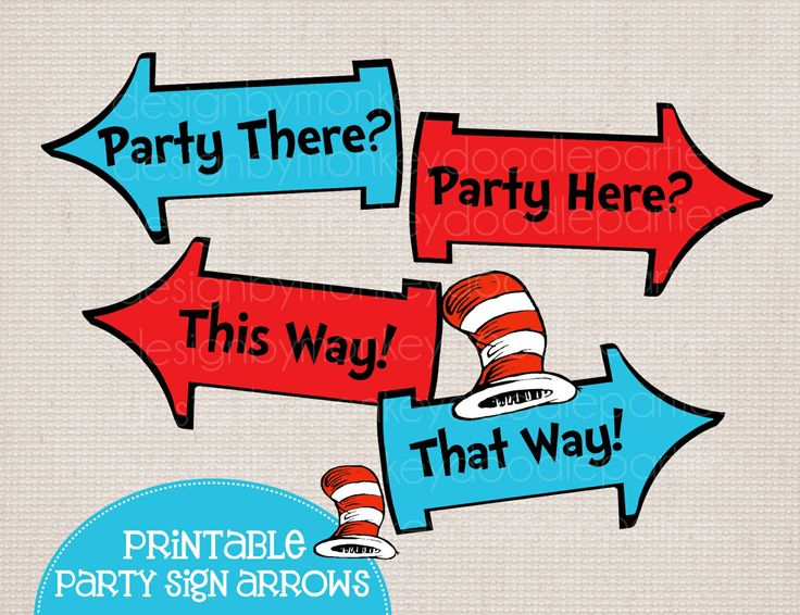 Arrow printable clipart vector freeuse stock Dr seuss arrow sign clipart - ClipartFest vector freeuse stock
