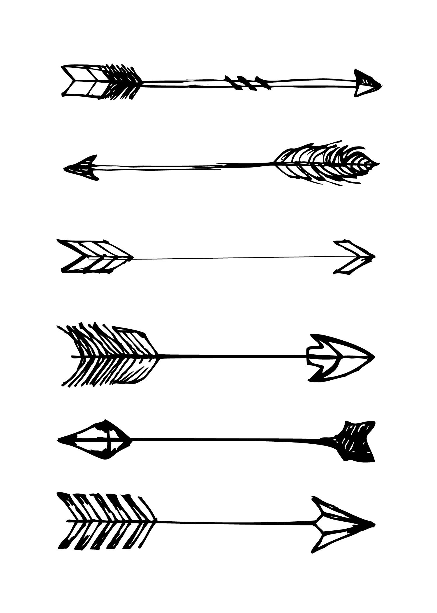 Arrow printables clipart black and white stock Free Printables - House Of Hipsters clipart black and white stock