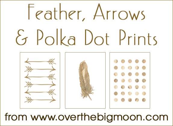 Arrow printables picture transparent download Over The Big Moon Feather, Arrow and Polka Dot Free Printables ... picture transparent download