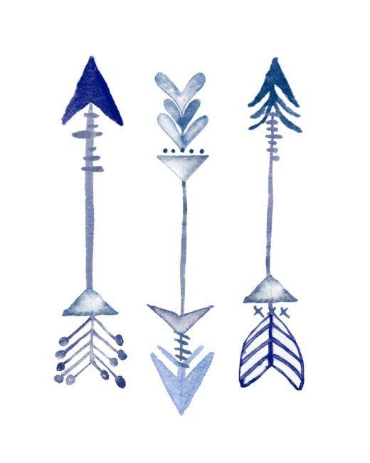 Arrow printables vector royalty free Pretty Pics Thursday [5] : Blue Printables   Arrows vector royalty free