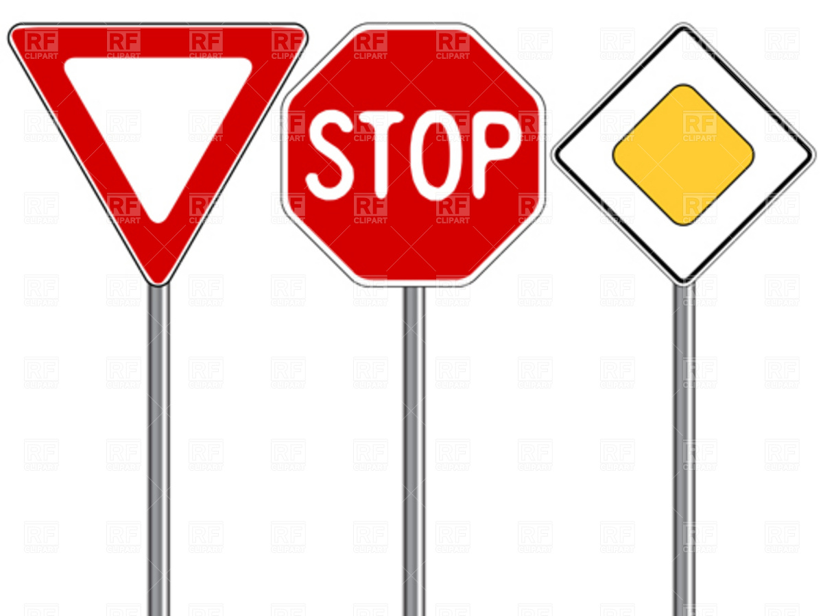 Arrow road stop sign clipart vector royalty free Road Traffic Signs Clipart | Free download best Road Traffic Signs ... vector royalty free