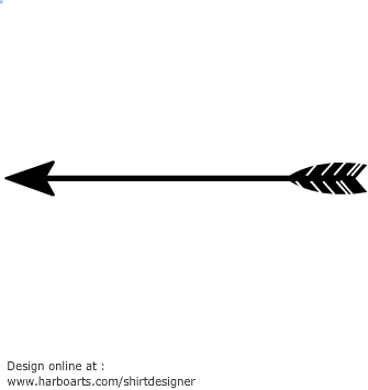 Feather clipartfest of an. Arrow silhouette clipart