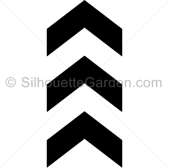 Arrow silhouette clipart. Chevron arrows clipartfest