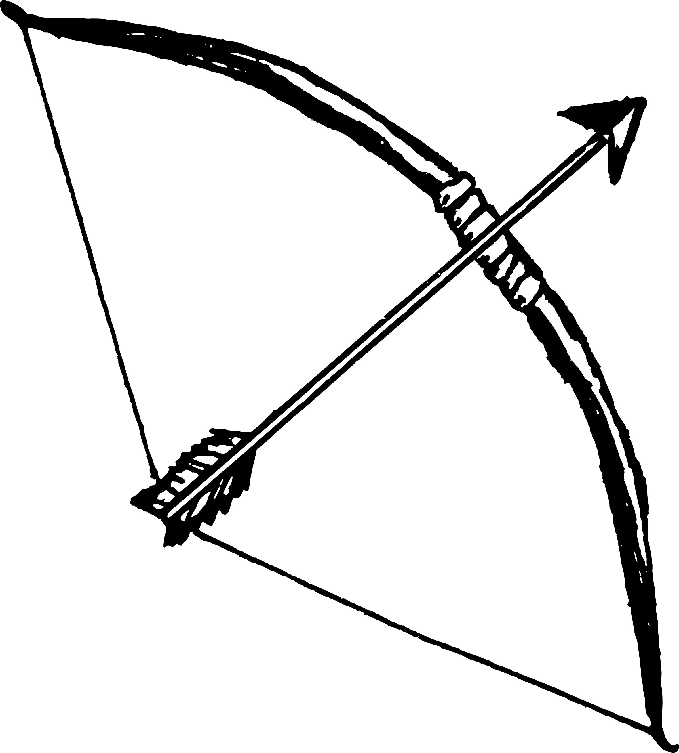 Tribal arrow clip art picture freeuse Bow And Arrow Silhouette at GetDrawings.com | Free for personal use ... picture freeuse