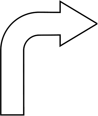 Arrow tha is curved clipart. Black kid download comp