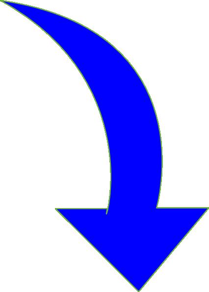 Clip art clipartfest curvedarrowbrightblue. Arrow tha is curved clipart