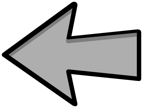 Arrow to the left image transparent arrow outline gray left - /signs_symbol/arrows/arrows_outlined ... image transparent