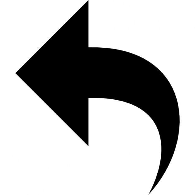 Arrow to the left png library library Left Curve Arrow Icons | Free Download png library library