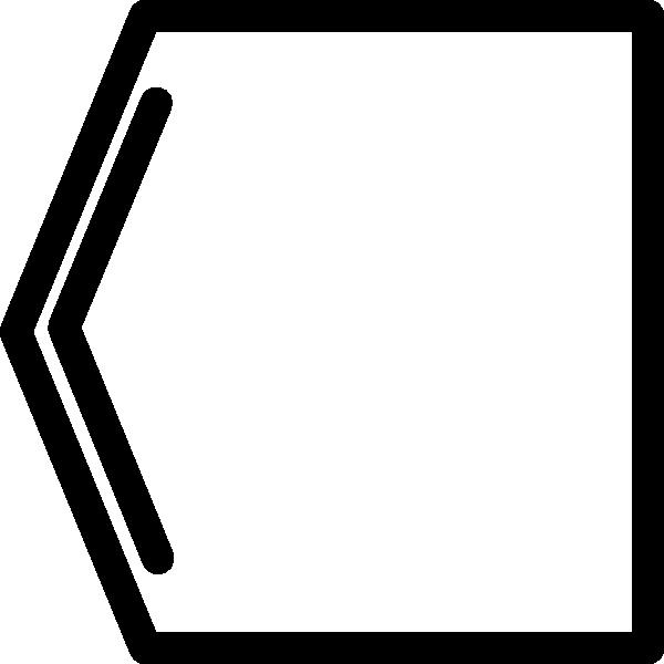 Arrow with box clipart