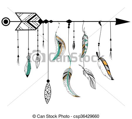 Arrow with feather clipart svg free download Tribal arrow feather clipart - ClipartFest svg free download