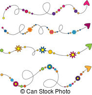 Arrow with flowers clipart. Trim clip art and