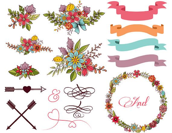 Arrow with flowers clipart.  images about planner