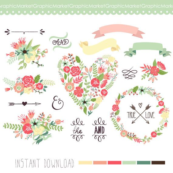 images about clip. Arrow with flowers clipart