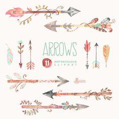 Arrow with flowers clipart banner royalty free library Arrows clip art, tribal arrow clipart, archery hand drawn arrows ... banner royalty free library
